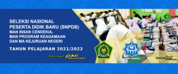 Seleksi Nasional Peserta Didik Baru Tahun Pelajaran 2021/2022